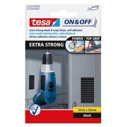 Rzep montażowy STRONG 10x5cm czarny Tesa H5522800
