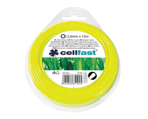 Żyłka do podkaszarki okrągła 24mm x15mb Cellfast CF35004
