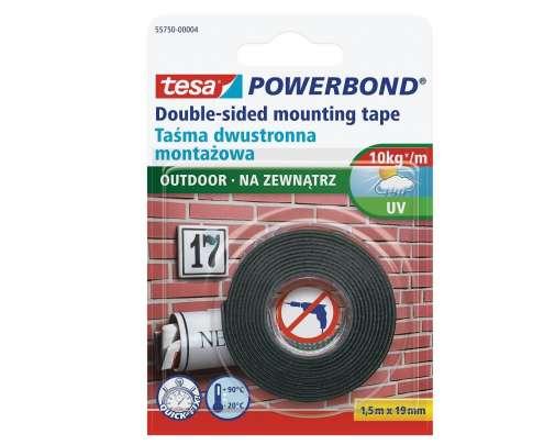 Dwustronna taśma montażowa na zewnątrz 1,5m:19mm Tesa H5575004
