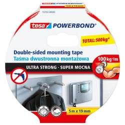 taśma dwustronna montażowa powerbond super mocna 5m tesa 55792