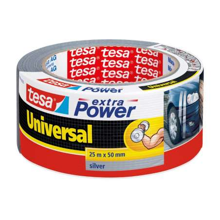 Taśma naprawcza duct tape 25m:50mm srebrna Tesa H5638800