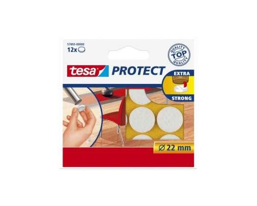 Podkładki filcowe okrągłe 22mm białe Tesa H5789300