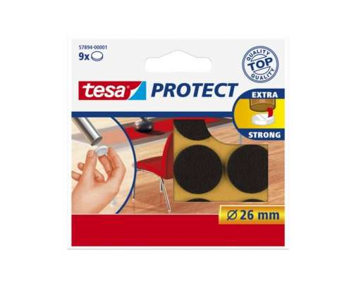 Podkładki filcowe okrągłe 22mm brązowe Tesa H5789301