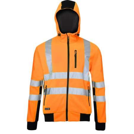 Bluza ostrzegawcza z kapturem pomarańczowo - czarna Lahti Pro L40125