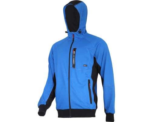 Bluza z kapturem i suwakiem niebieszko-czarna Lahti Pro L40127