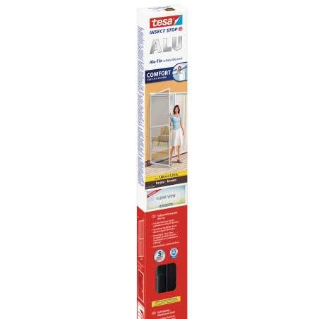 Moskitiera na drzwi 1,2x2,4m brązowa Tesa Alu COMFORT 55197-00001-01