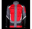 Bluza z odblaskami czarno-szaro-czerwona 100% bawełna Lahti Pro L40406