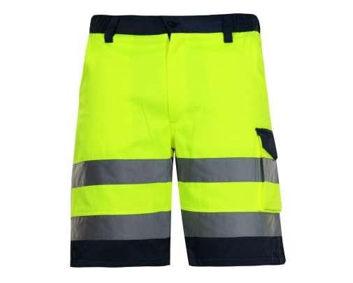 Spodenki krótkie ostrzegawcze żółte Lahti Pro L40701
