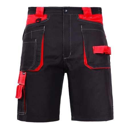 Spodenki krótkie bawełniane czarno-czerwone Lahti Pro L40704