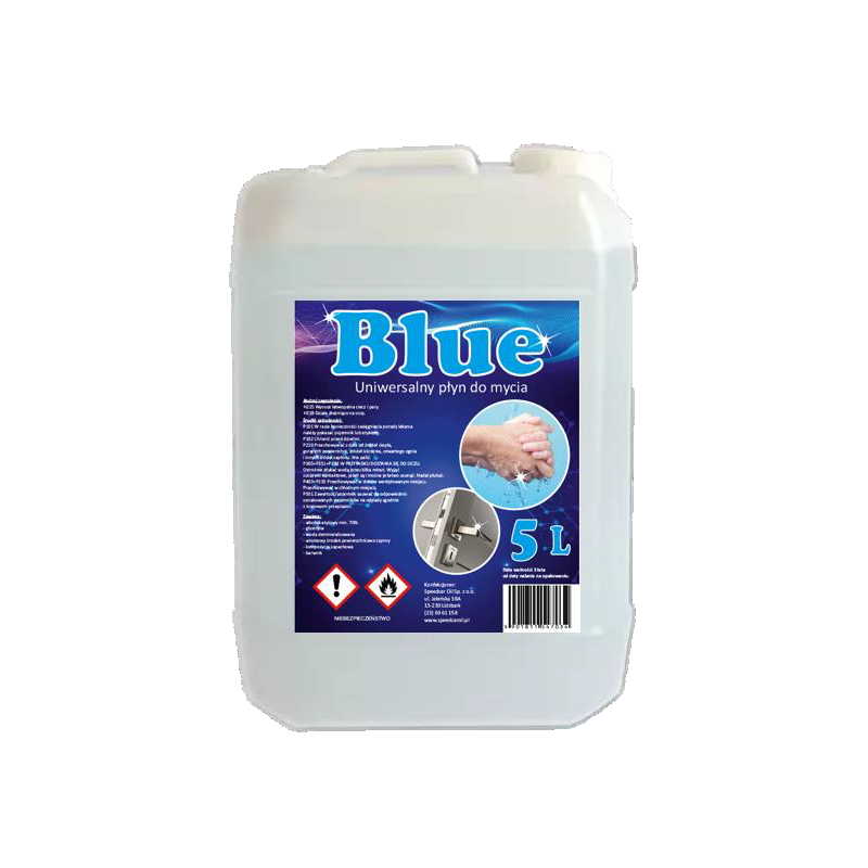 Uniwersalny płyn do mycia Blue 5L 70% alkoholu 42255