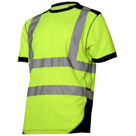 Koszulka t-shirt ostrzegawcza żółto czarna Lahti Pro L40225