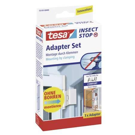 Adapter do ram aluminiowych biały tesa Alu COMFORT 55193-00000-00