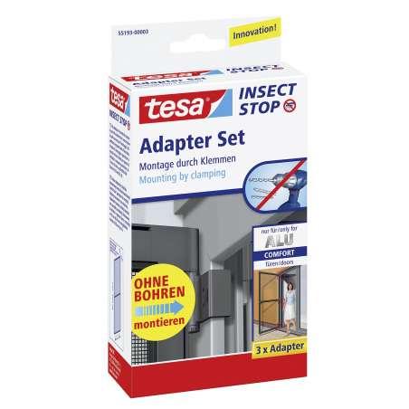 Adapter do ram aluminiowych czarny tesa Alu COMFORT 55193-00003-00