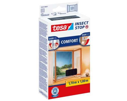 Moskitiera okienna 1,7x1,8m czarna Tesa COMFORT 55914-00021-00