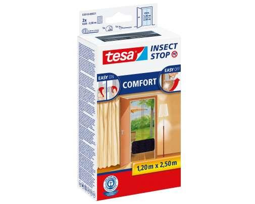 Moskitiera na drzwi 1,2x2,5m czarna Tesa COMFORT 55910-00020-00