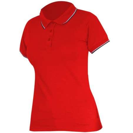 Koszulka Polo damska czerwona 190g bawełna Lahti Pro L40314