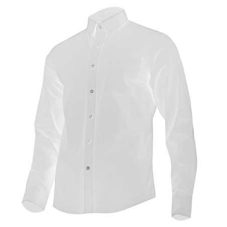 Koszula męska codzienna biała bawełna długi rękaw Lahti Pro L41806