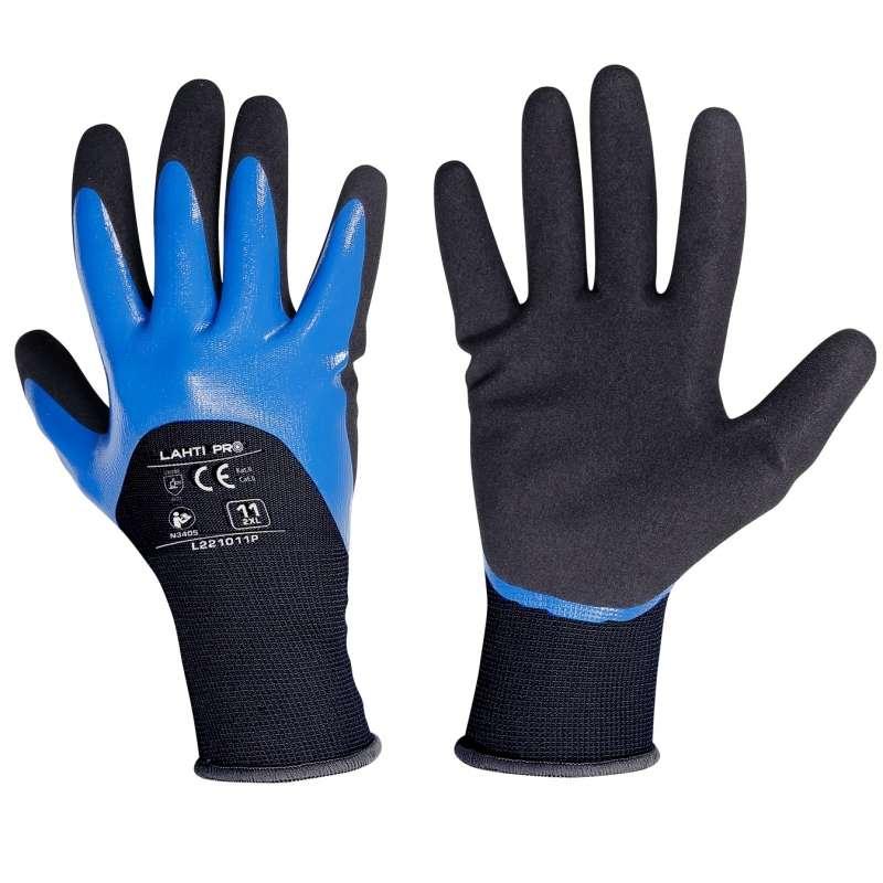 Rękawice robocze powlekane nitrylem Lahti Pro L221008K