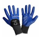 Rękawice ochronne powlekane nitrylem niebieskie Lahi Pro L2211