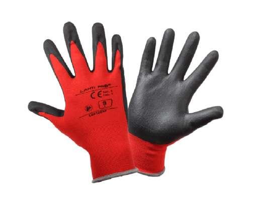 Rękawice ochronne powlekane spienianym nitrylem czerwone Lahi Pro L2212