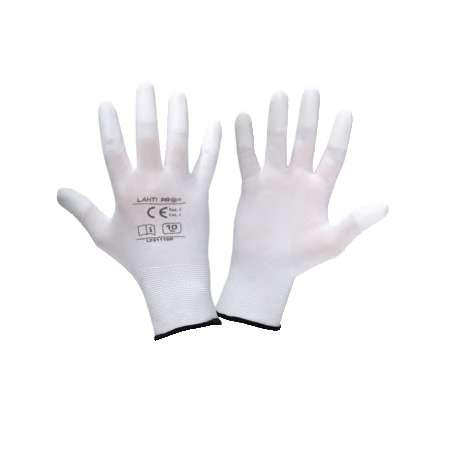 Rękawice robocze białe poliuretanowe Lahti Pro L2311