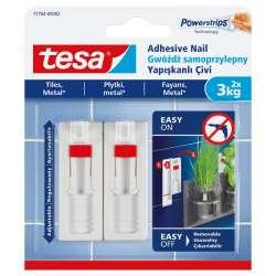 Regulowane gwoździe samoprzylepne do płytek 3kg + 3 plastry Tesa H7776402