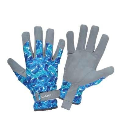 Rękawice ze skóry syntetycznej w kwiatki Lahti Pro L2727