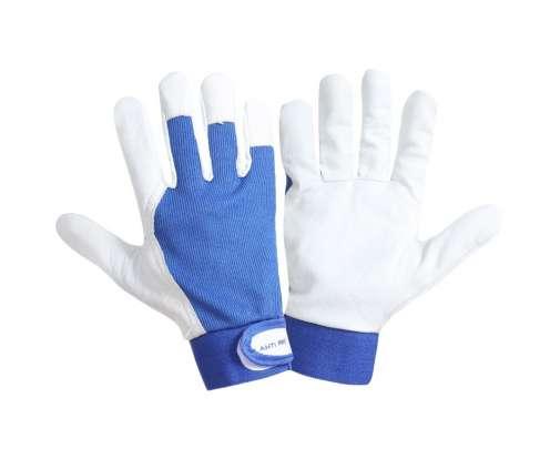 Rękawice robocze ze skóry koziej 12 par niebieskie Lahti Pro L272108W