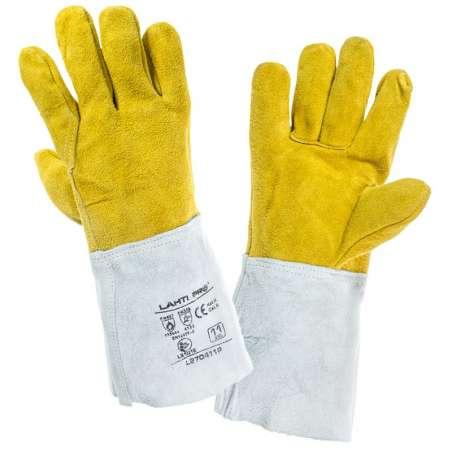 Rękawice ze skóry koziej dla spawacza Lahti Pro L272410K