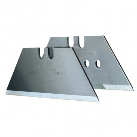 Ostrza wymienne do nożyków - uniwersalne trapezowe  61mm otwór 10 sztuk L Stanley 119166