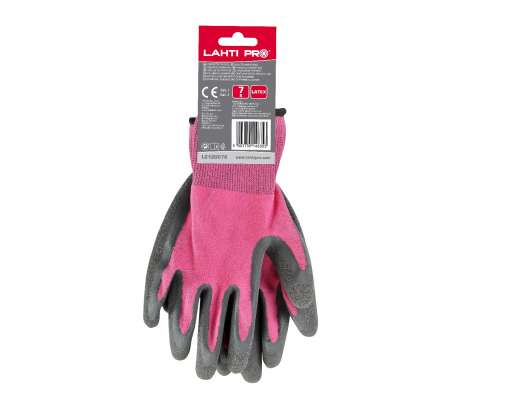 Rękawice lateksowe różowo czarne Lahti Pro L2120