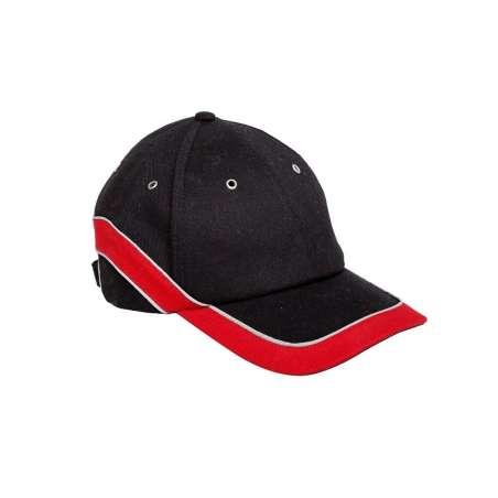 Czapki z daszkiem czarno czerwone 12 sztuk Lahti Pro L1010300