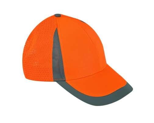 Czapli z daszkiem siatkowe pomarańczowe 12 sztuk Lahti Pro L1010400