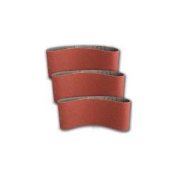 Pas ścierny bezkońcowy 75x457mm  P80 do metalu drewna 3szt Klingspor 45543