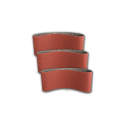Pas ścierny bezkońcowy 75x457mm  P60 do metalu drewna 3szt Klingspor 45542