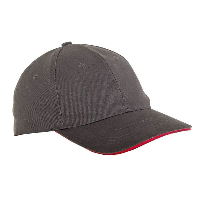 czapki z daszkiem bawełniane szare 12szt lahtipro l1814300