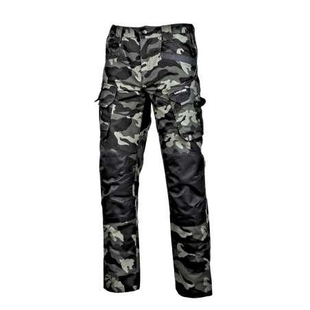 Spodnie bojówki moro zielone wzmocnione slim fit Lahti Pro L40519