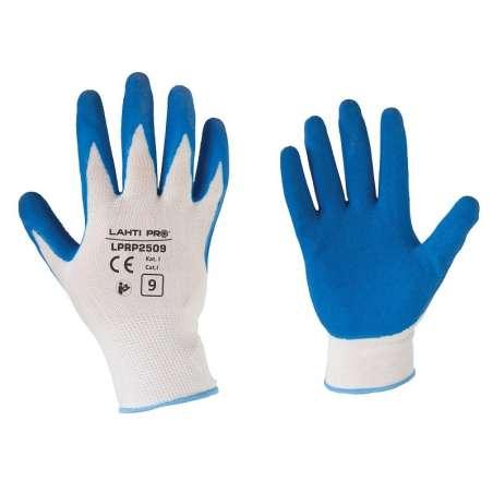 Rękawice ochronne lateks 12 par Lahti Pro L2105