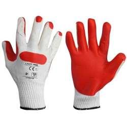 rękawice lateksowe czerwono-białe karta 10 ce lahtipro l210910k