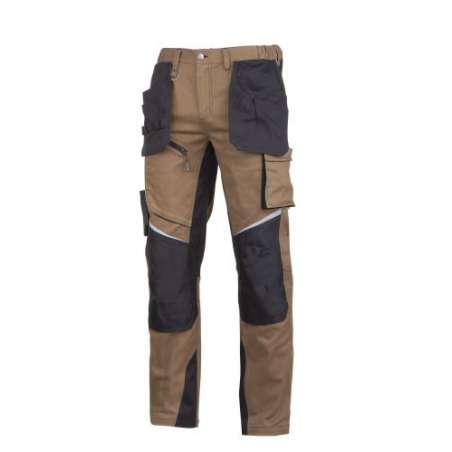 Spodnie robocze brąz ochronne do pasa Slim-Fit Lahti Pro L40522