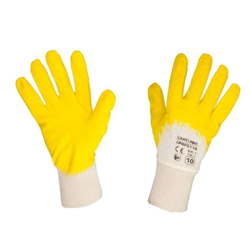 Rękawice ochronne powlekane lateksem 12 par Lahti Pro L211410W