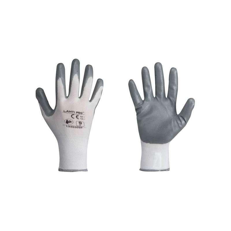 rękawice ochronne powlekane nitrylem rozmiar 9 karta lahtipro l220309k