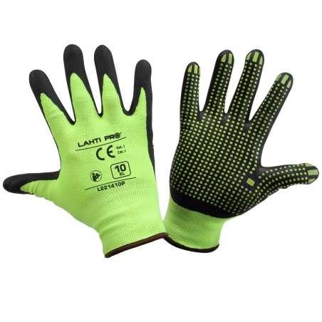 Rękawice ochronne robocze nitrylowe nakrapiane Lahti Pro L221407K
