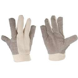 Rękawice ochronne nakrapiane biało-czarne 12 par Lahti Pro L240310W