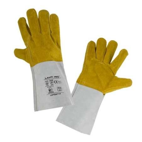 Rękawice ze skóry spawalnicze karta Lahti Pro L270411K