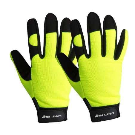 Rękawice warsztatowe czarno żółte Lahti Pro L2803
