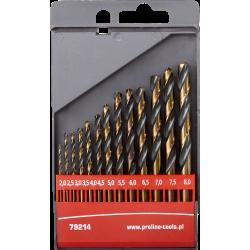 Zestaw 13 wierteł do metalu HSS 2-8 mm Proline 79214