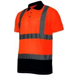 koszulka polo ostrzegawcza pomarańczowa 140g lahtipro l40301