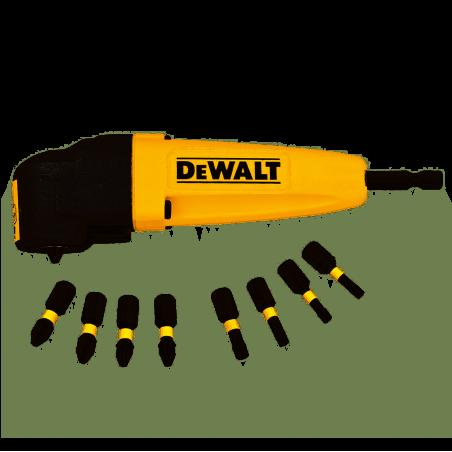 Uchwyt kątowy do udaru końcówki wkrętarki + końcówki DeWalt DT71517T
