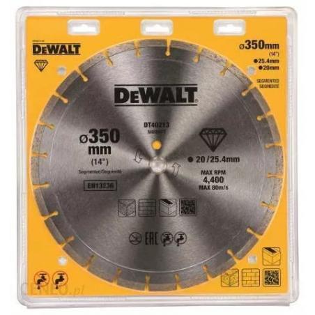 Tarcza diamentowa Segment 350mm 25,4mm DeWalt DT40213